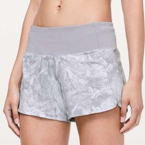 Lululemon Run Times Short Washed Marble White